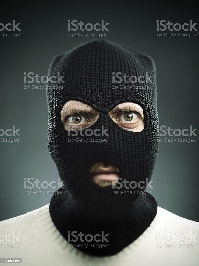 Terrorist portrait stock photo