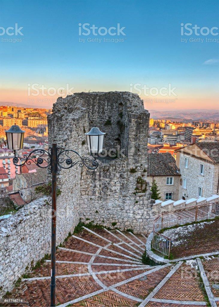 Terzano tower in Campobasso stock photo