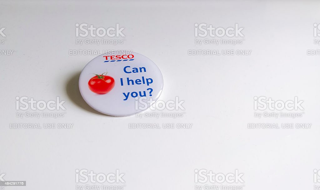 Tesco badge stock photo