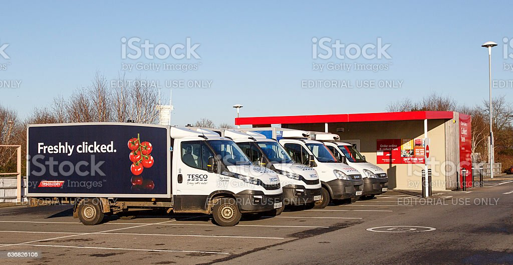 Tesco - Click and Collect stock photo