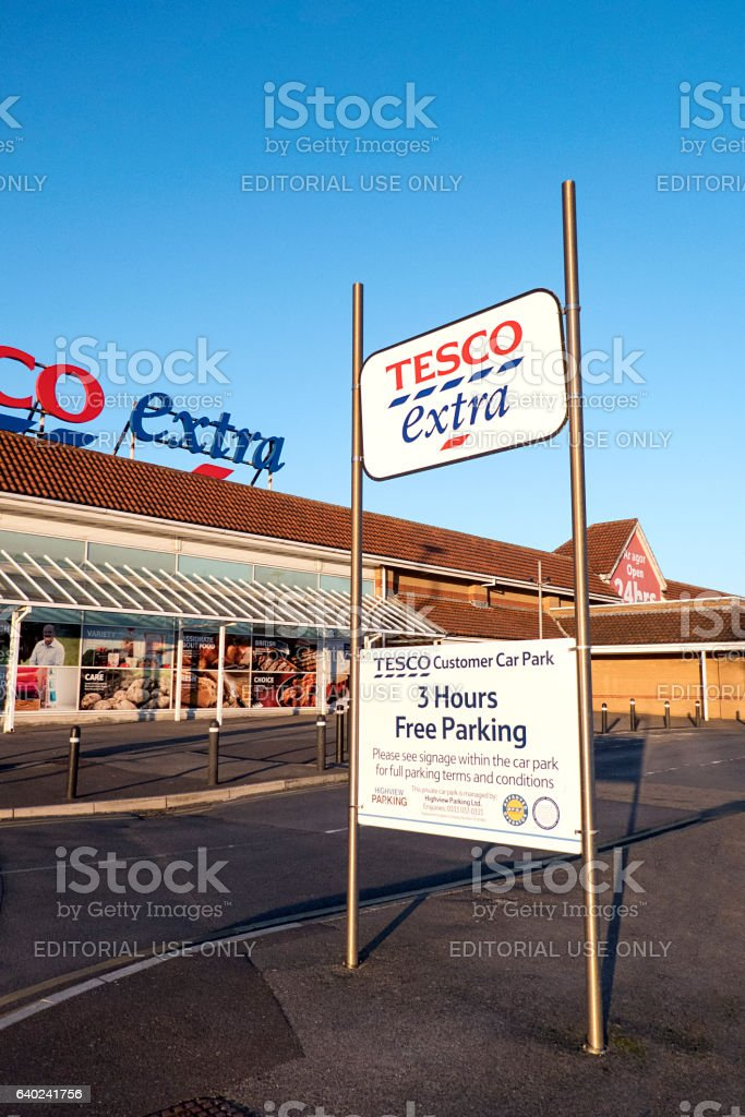 Tesco Extra - Parking Fine stock photo