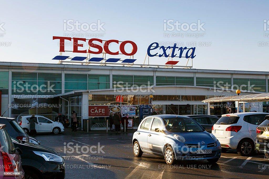 Tesco Extra stock photo