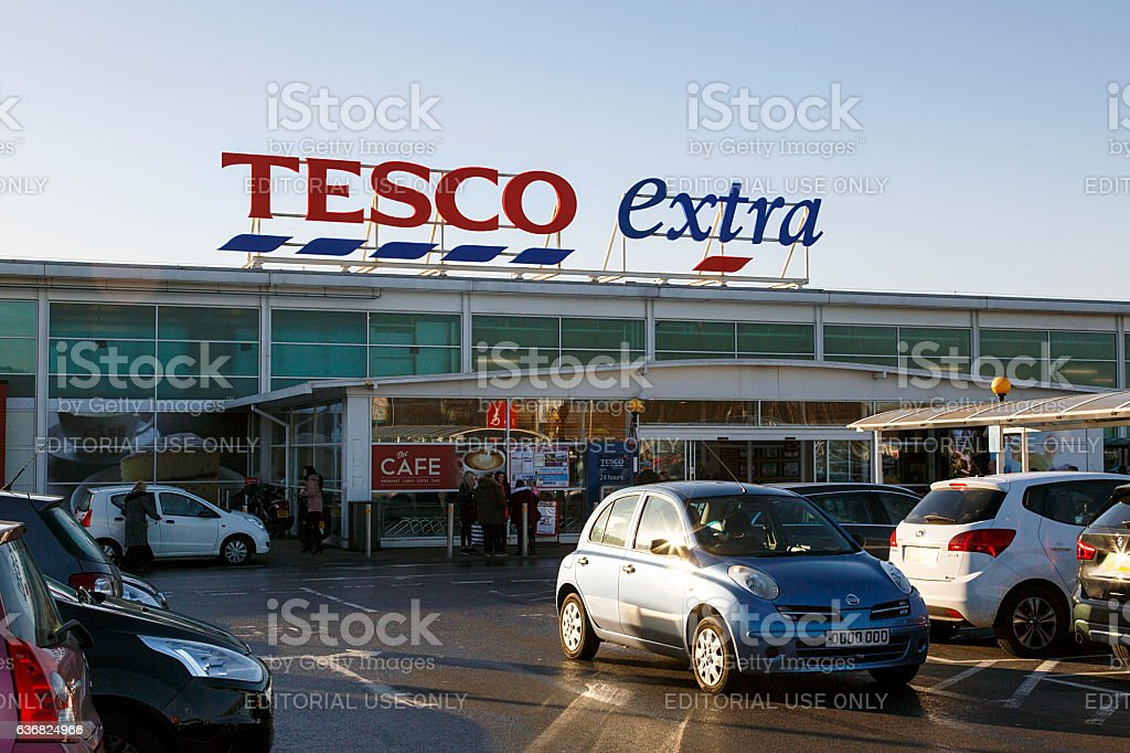 Tesco Extra stock photo