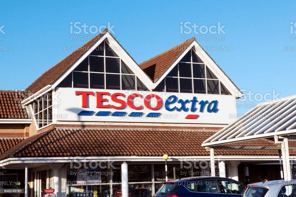 Tesco Extra - UK stock photo