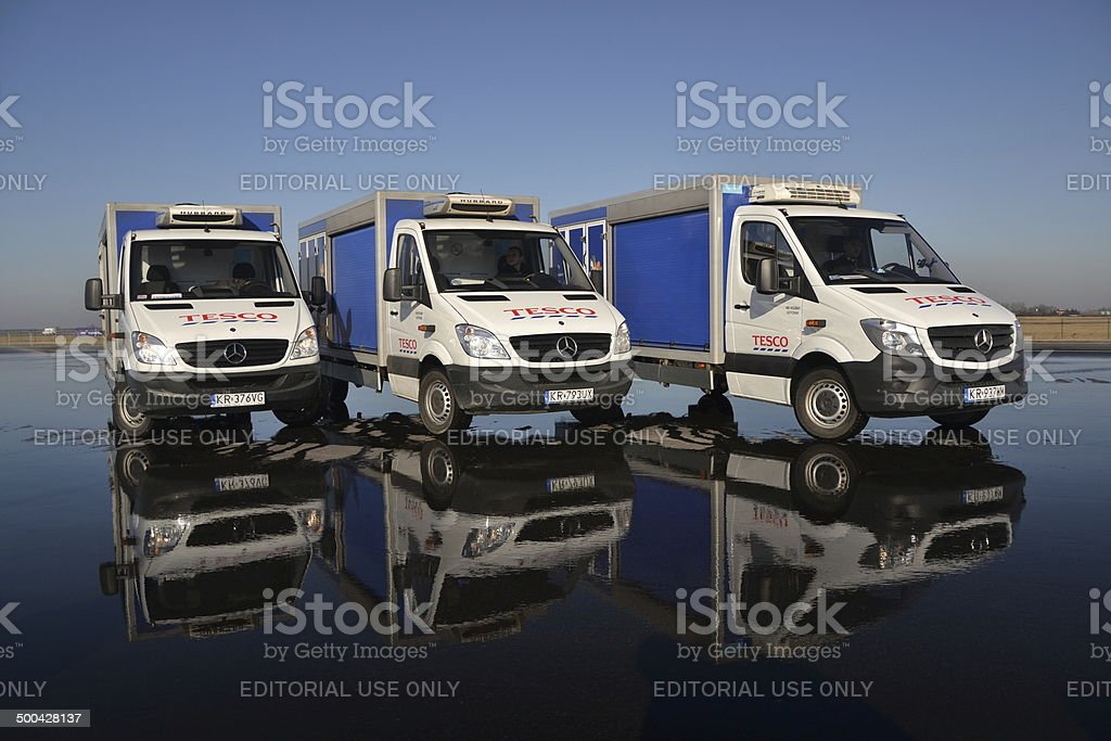 Tesco fleet in Europe - Mercedes-Sprinter stock photo