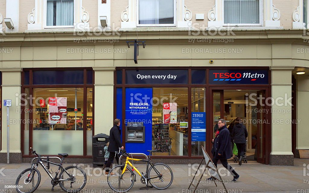 Tesco Metro Store - London stock photo