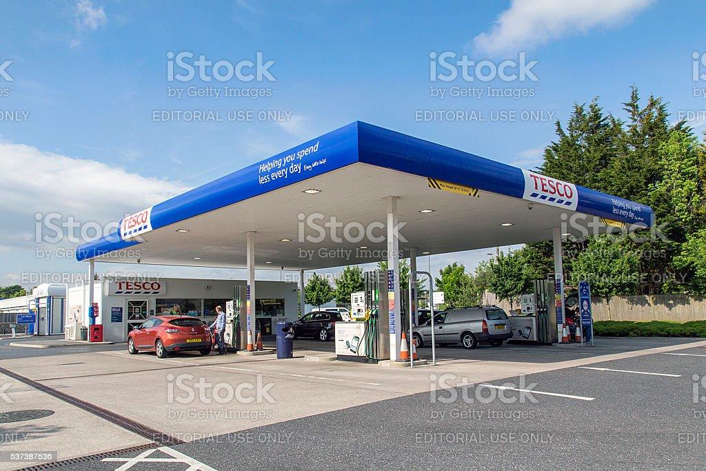 Tesco Petrol Station stock photo