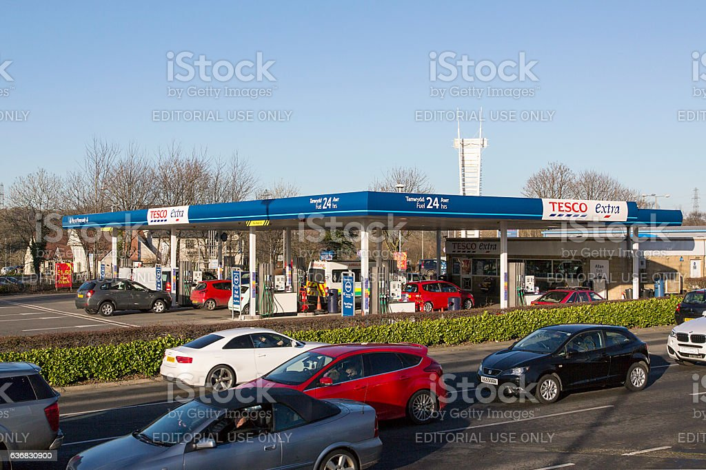 Tesco Petrol Station stock photo
