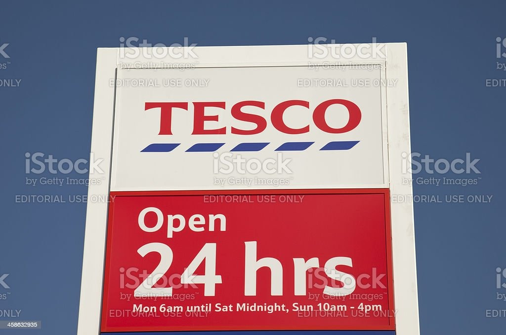 Tesco Sign stock photo