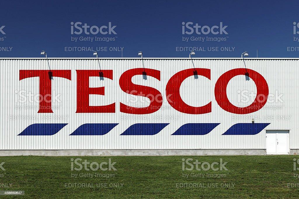Tesco supermarket building with logo stock photo