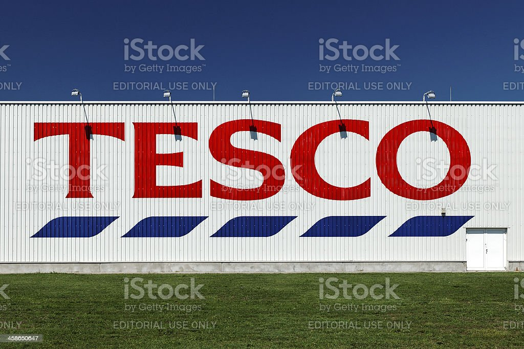 Tesco supermarket building with logo stock photo