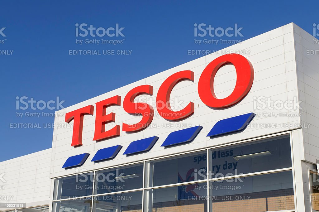 Tesco Supermarket Shopfront royalty-free stock photo