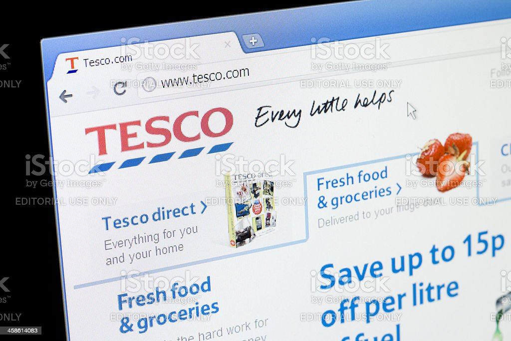 Tesco website stock photo