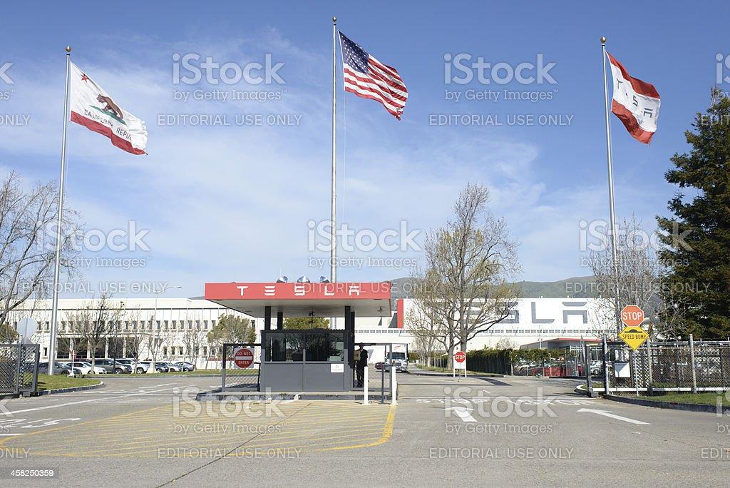 Tesla Motors Factory royalty-free stock photo