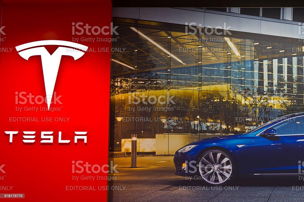 Indianapolis - March 2016: Tesla Motors Store III stock photo