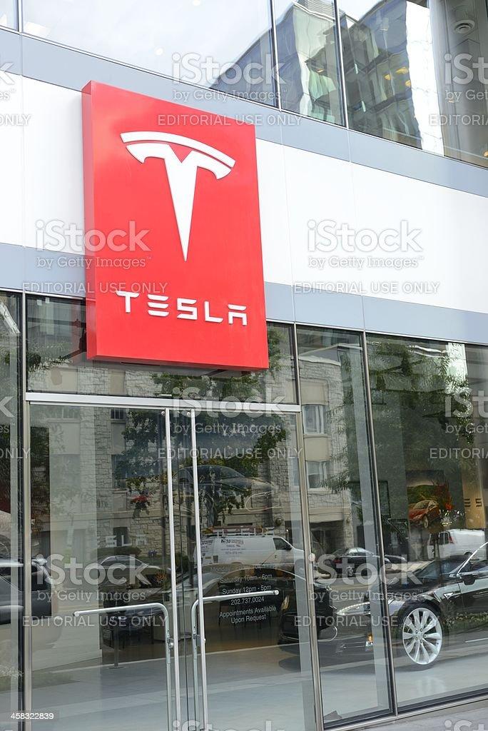 Tesla Motors Storefront royalty-free stock photo