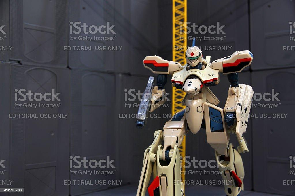 Test Battroid stock photo