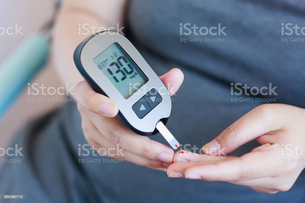 Test Blood Glucose For Diabetes stock photo