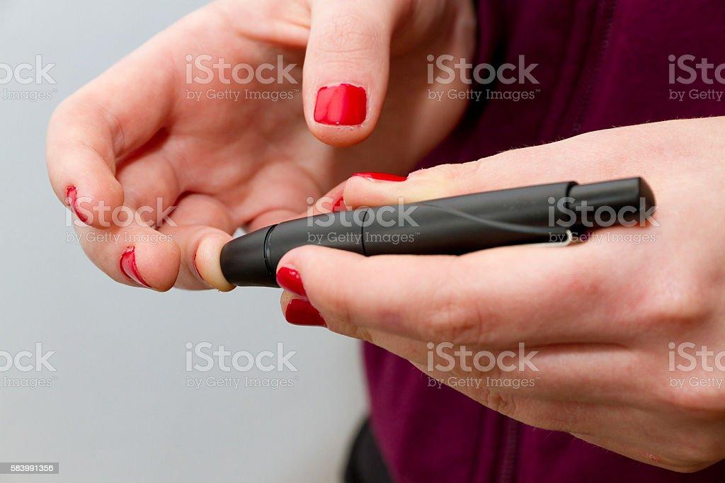 Test For Diabetes, Woman stock photo