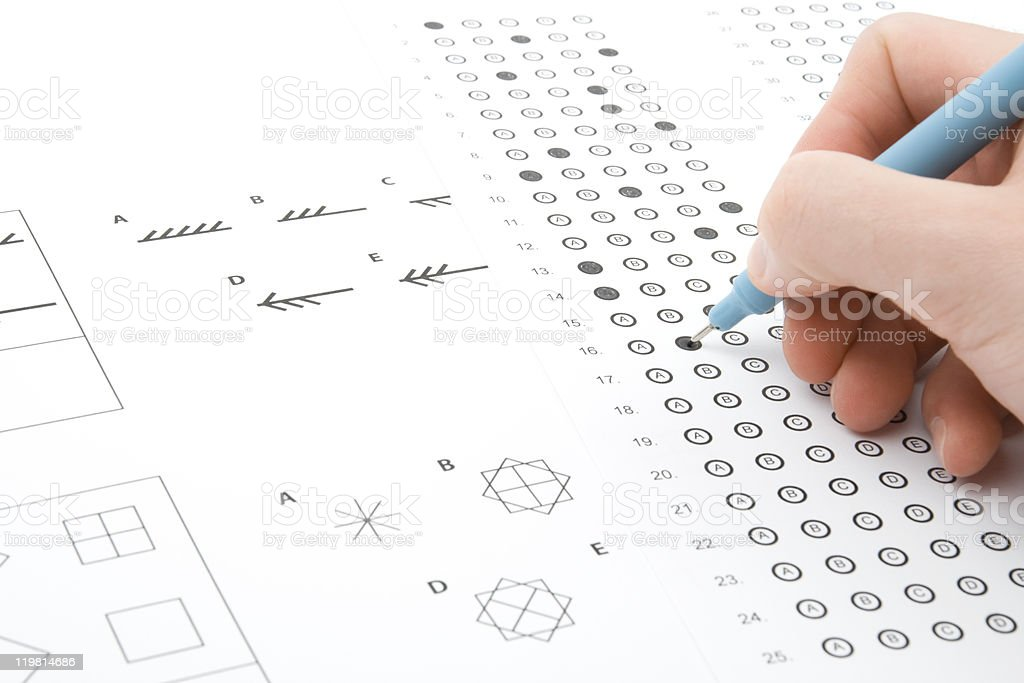 IQ test stock photo