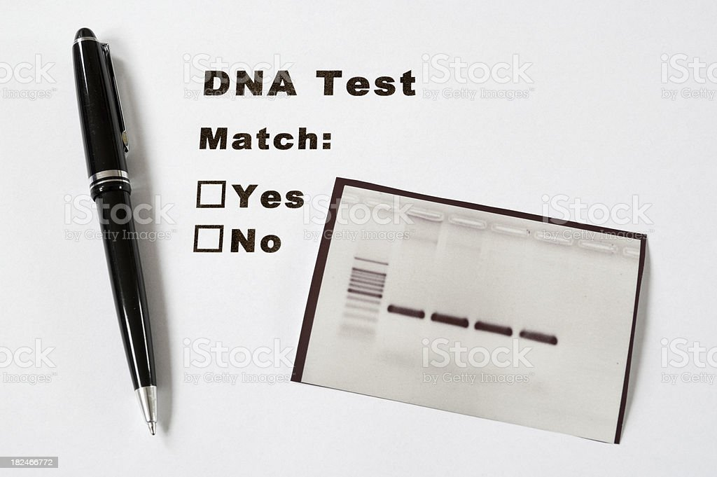 DNA Test royalty-free stock photo