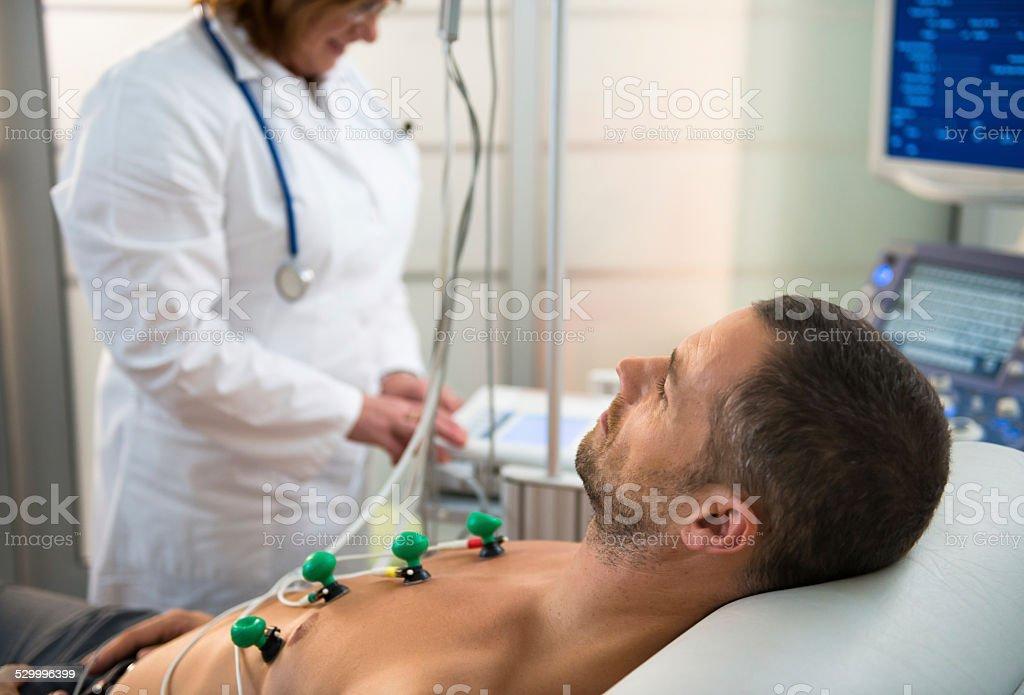 EKG Test stock photo