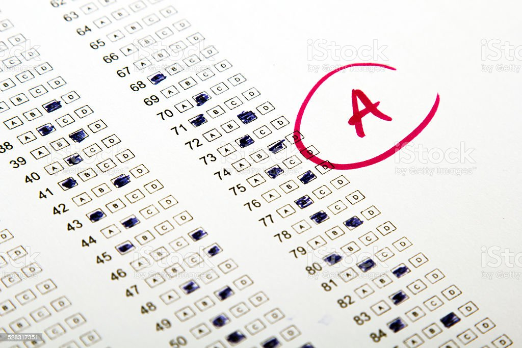 test results in school stock photo