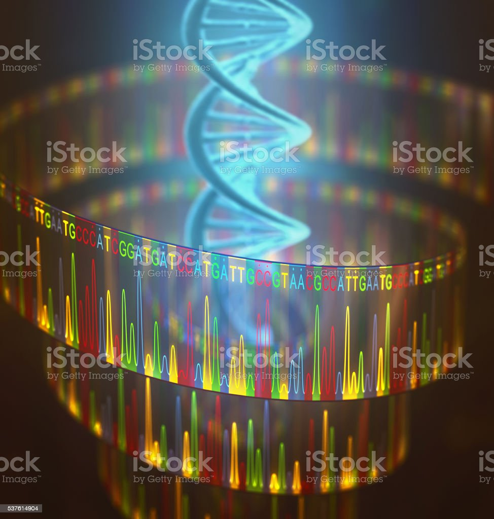 DNA Test Sanger Sequencing stock photo