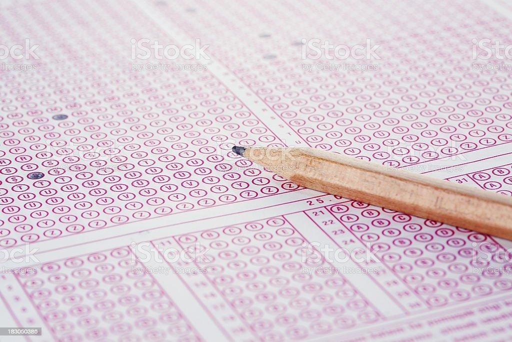 Test Sheet stock photo