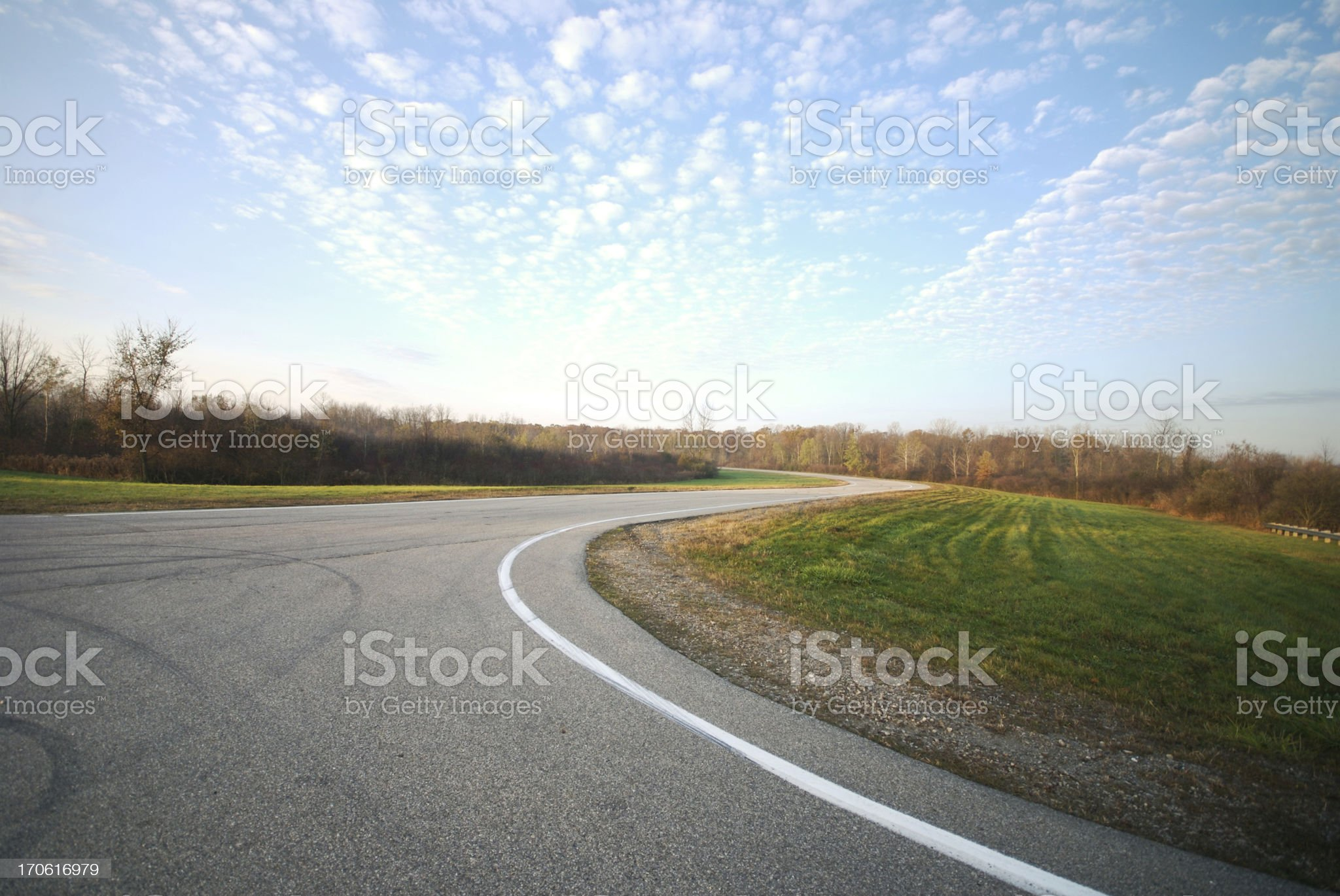Test Track royalty-free stock photo