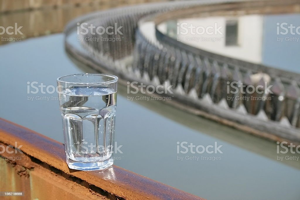 test treated water at treatment plant royalty-free stock photo