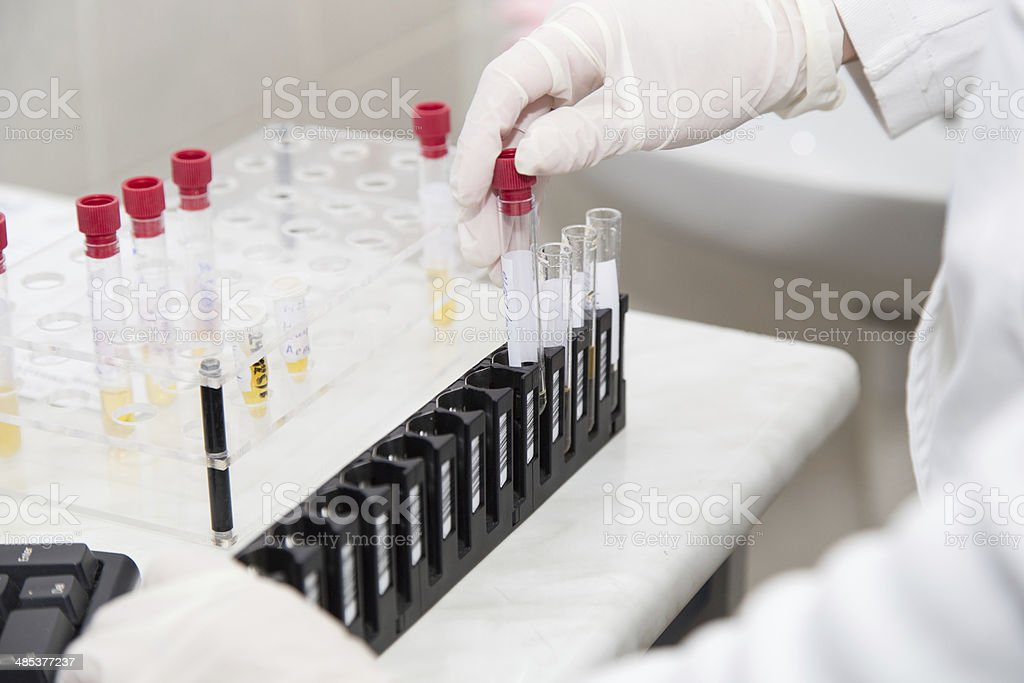 Test tube is preparing for some tests royalty-free stock photo