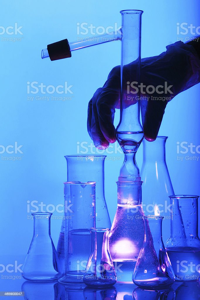 Test tube Scene stock photo