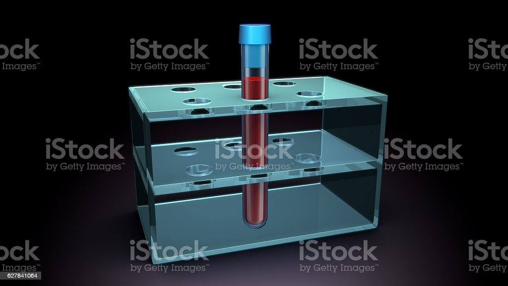 Test tube with blood stock photo