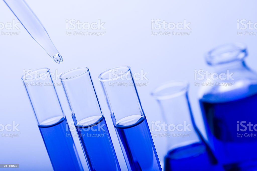 Test tubes and dropper royalty-free stock photo