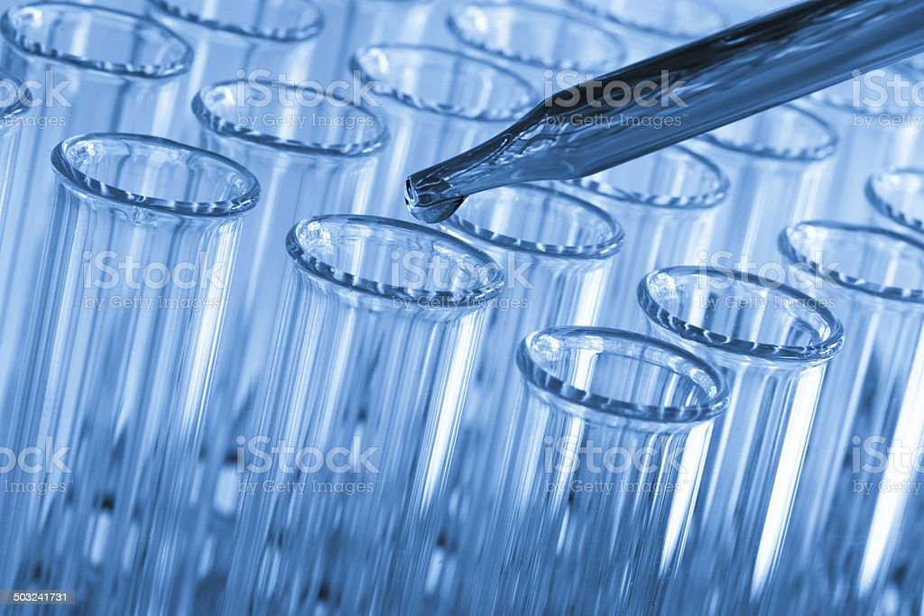 Test Tubes and Pipette stock photo
