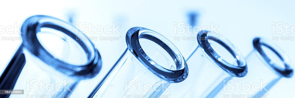 Test tubes closeup,medical glassware royalty-free stock photo