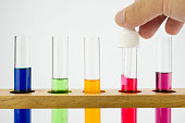 Test tubes for chemical tests or scientific study