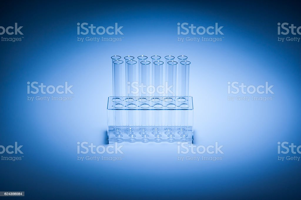 test tubes in glass container stock photo