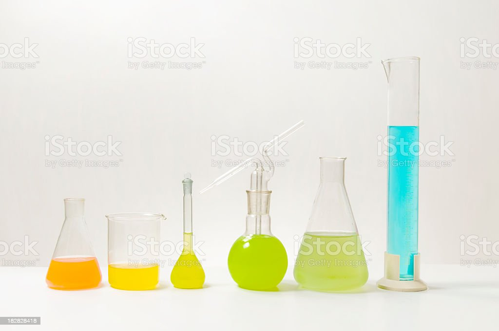 Test tubes in science research lab royalty-free stock photo