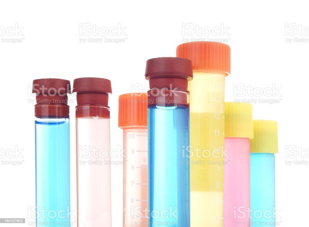 test tubes  isolated on white royalty-free stock photo