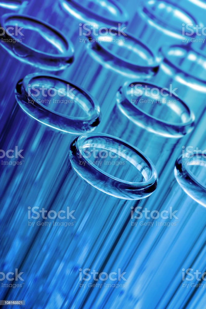 Test Tubes on Blue royalty-free stock photo