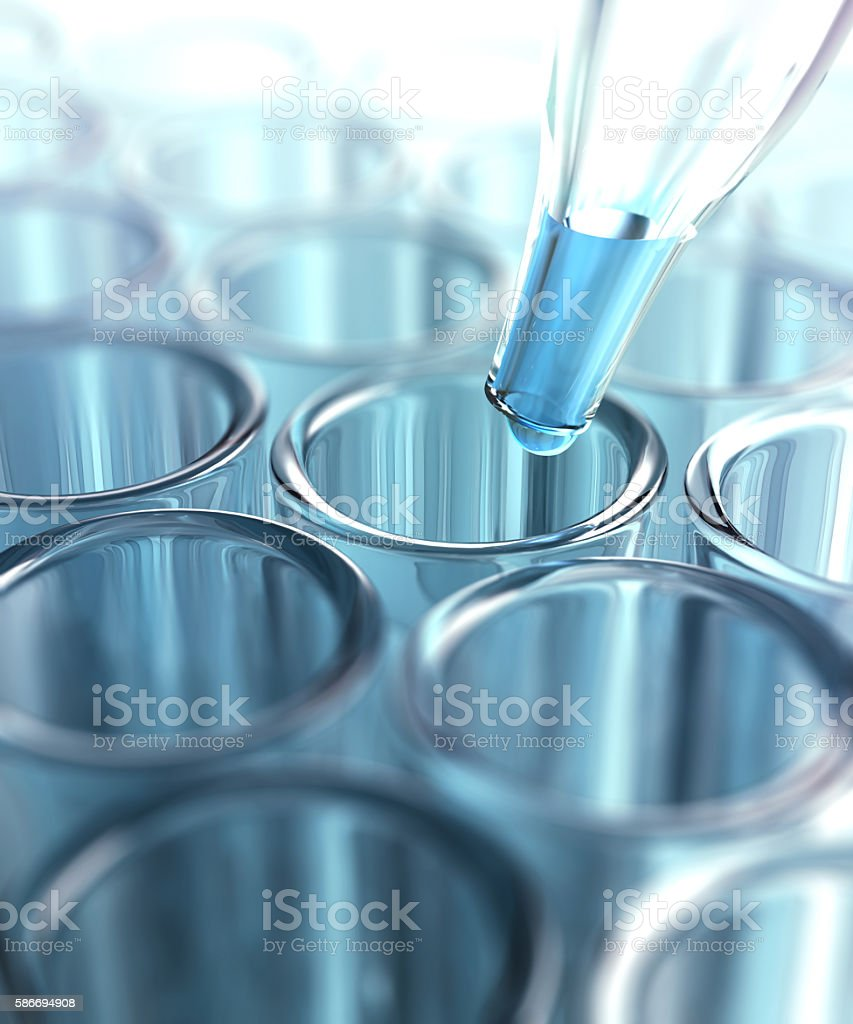Test Tubes Pipette stock photo