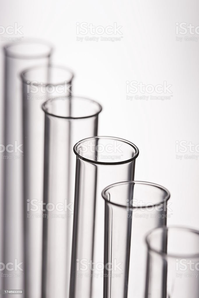 Test tubes placed in a row royalty-free stock photo