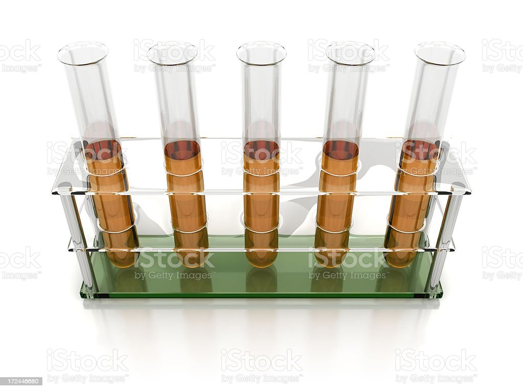 Test tubes with liquid royalty-free stock photo