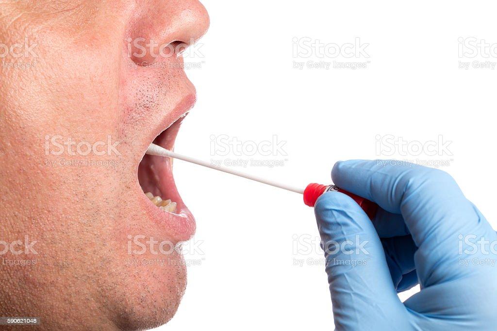 DNA test, wipe test stock photo