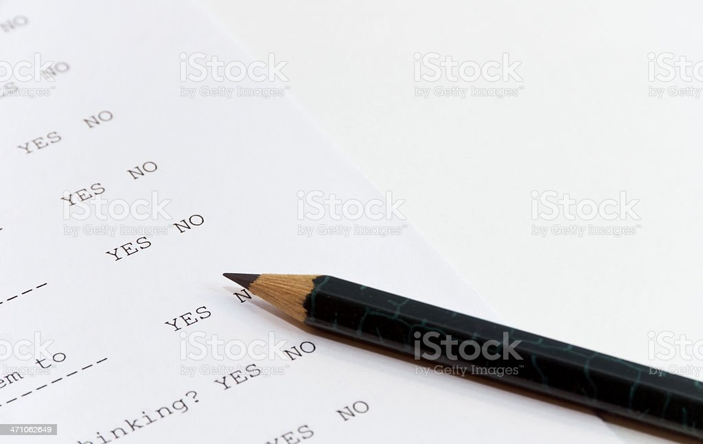 Test - Yes Or No royalty-free stock photo