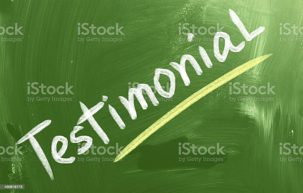 Testimonial Concept royalty-free stock photo