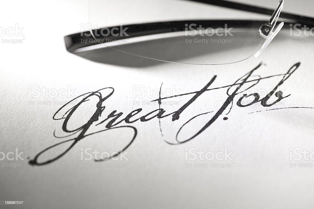 Testimonial - Great Job stock photo