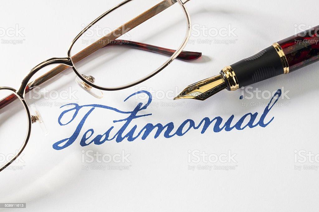 Testimonial stock photo
